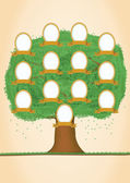 Genealogical tree. Green tree — Stock Vector
