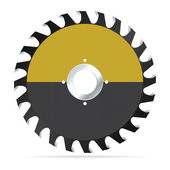 Circular saw blade — Stock Vector