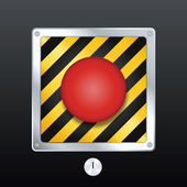 Launch button — Stock Vector