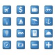 Travel icons set. - Stock Vector
