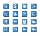 Travel icons set. — Stock Vector