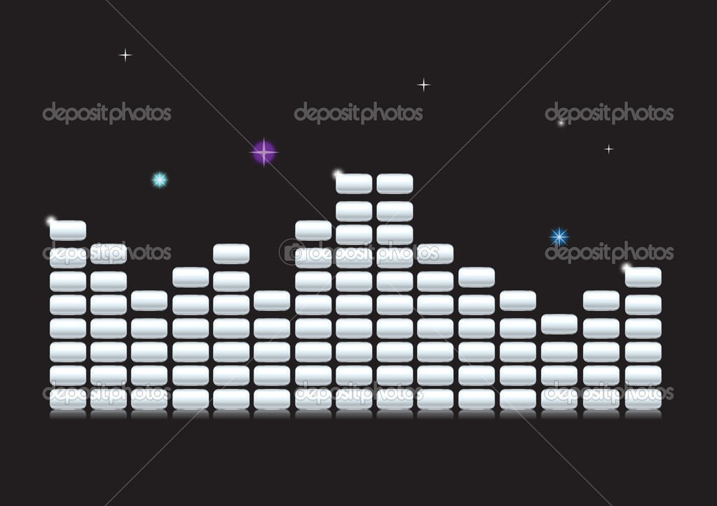 Digital Equalizer. Vector illustration — Stock Vector #14193914