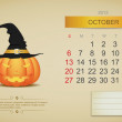October 2013 calendar — Stock Vector #15345557