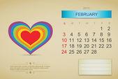 February 2013 calendar — Stock Vector