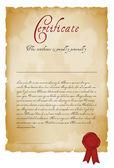 Vintage certificate — Stock Vector