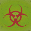 Biohazard sign grunge background - Stock Vector