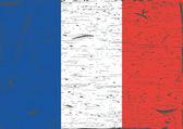フランス国旗グランジ — ストックベクタ