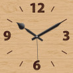 Wooden mechanical clock — Stock Vector