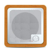 Square speaker icon — Stock Vector