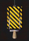 Schalter on / off auf rostigen metall hintergrund — Stockvektor