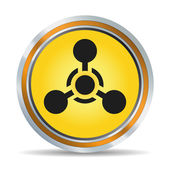 Chemical hazard icon — Stock Vector