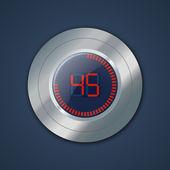 Timer digitale — Vettoriale Stock