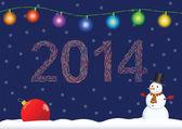 Elegantní vánoční přání s jmelí — Διανυσματικό Αρχείο