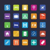 Płaski ikona podróżna — Wektor stockowy