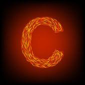 Fire letter C — Stock Vector