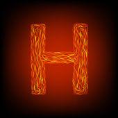 Fire letter H — Stock Vector