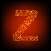 Fire letter Z — Stock Vector