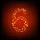 Brand nummer 6 — Stockvektor