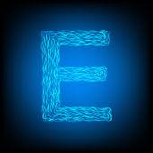 Water letter E — Stockvektor