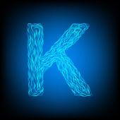 Water letter K — Stockvektor
