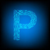 Water letter P — Stockvektor