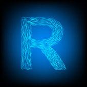 Water letter R — Stockvektor