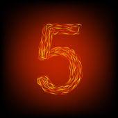 Fire number 5 — Stockvektor