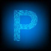 Νερό γράμμα p — Διανυσματικό Αρχείο