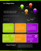 Modern color website template set — Stock Vector