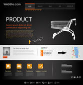 Web Design Website Elements Template — Stock Vector
