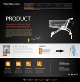 Plantilla de elementos web diseño web — Vector de stock