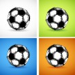 Soccer ball color set — Vector de stock #14051043