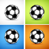 Soccer ball color set — Stock Vector