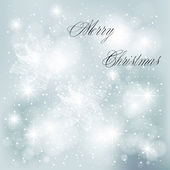 Vector Christmas background with white snowflakes — Vector de stock