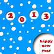 Royalty-Free Stock Vector Image: Happy new year 2013, Eps 8