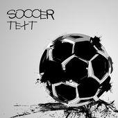 Soccer grunge ball — Stock Vector