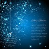 Card, Christmas balls — Stock Vector