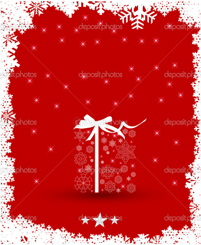 Christmas Background, snowflake design  Stock Vector #15732767