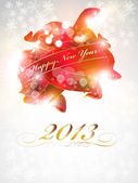 New Year Celebration Card — Vector de stock