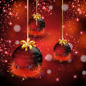 Abstract background, with Christmas baubles — 图库矢量图片