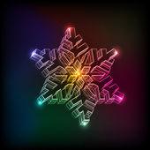 Abstracte kerstmis sneeuwvlok — Stockvector