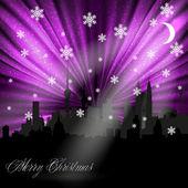 Merry Christmas card, easy editable — Stock Vector