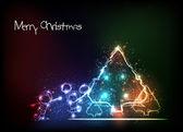 Merry christmas tree en kinderen achtergrond — Stockvector