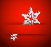 Vector christmas 3d snowflake — Stock Vector