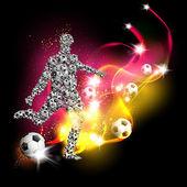 Fondo de arte de fútbol — Vector de stock