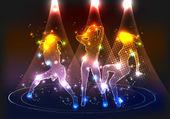 Partij neon meisjes — Stockvector