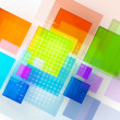 Abstract 3d cube background — Stock Vector