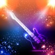 Music background, light guitar — Stock Vector