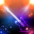 Music background, light guitar — Stock Vector #26490733