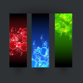 Set of three bubbles color vector banner — Stock Vector